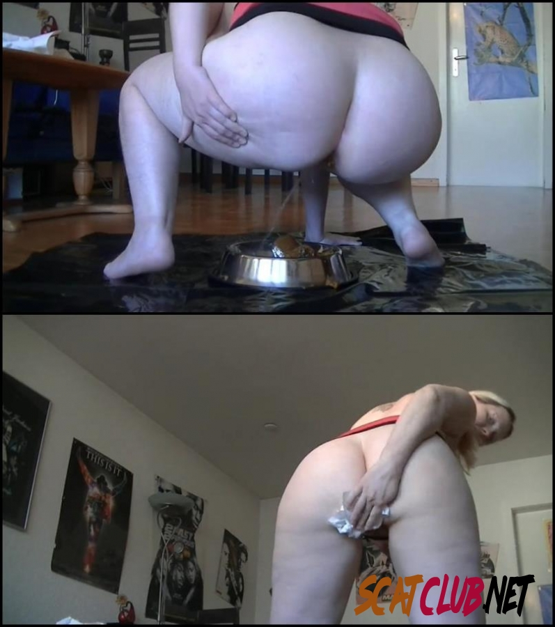 [Special #221] Girl with curvaceous shitting and pissing in a bowl [2018 | 119 MB] (027.0221_BFSpec-221 | FullHD)